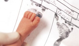 Baby Footprint Scanning