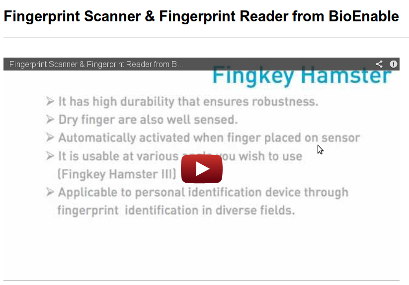 fingerprint reader india