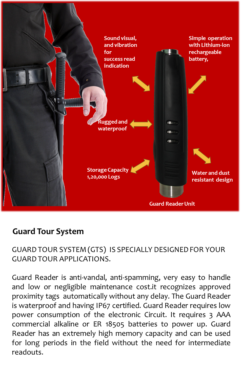 Guard Tour System Bioenable