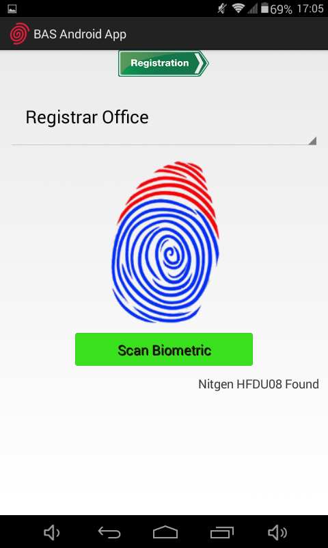 Fingerprint Registration