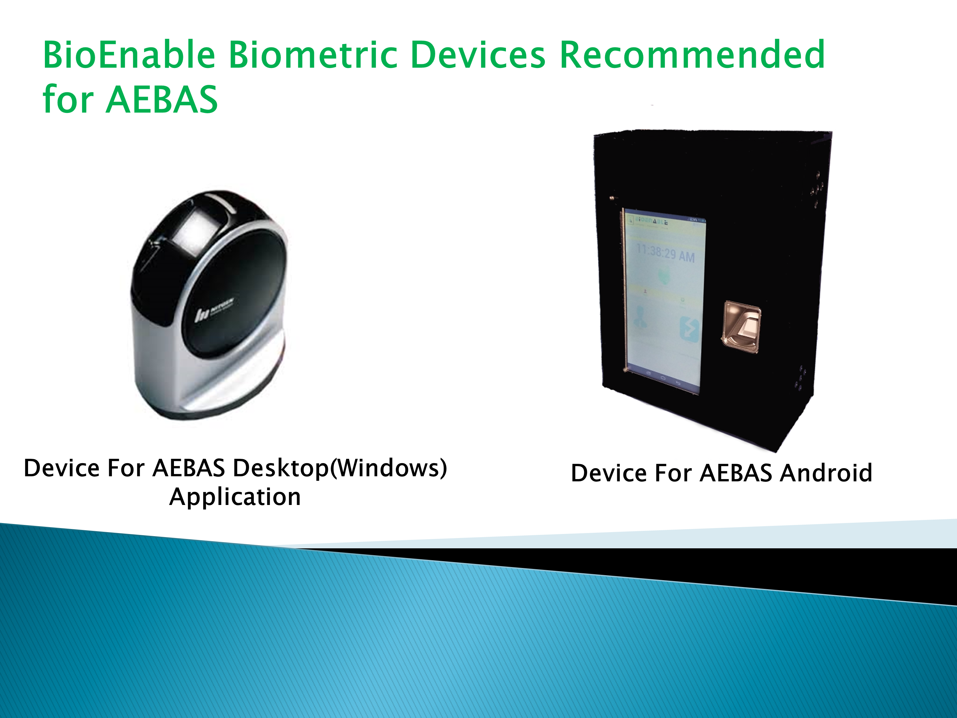 Bioenable Offers Aadhaar Enabled Biometric Attendance