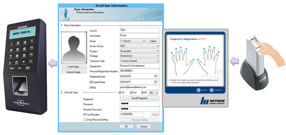 Fingerprint with ACM Pro
